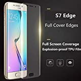 Evynza™ Premium Quality Edge to Edge Coverage Full Screen Protector Anti-Fingerprint HD+ Crystal Clear Premium Case Friendly 3D Tempered Glass for Samsung Galaxy S7 Edge - (Full Transparent)