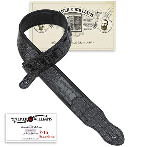 Walker & Williams F-15 Classic Black Gator Padded Guitar -