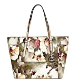 GUESS Women's Delaney Floral-Print Small Classic Tote