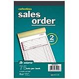 Adams Carbonless 2 Part Sales Order Forms, 5 Books/75 Sets Per Book
