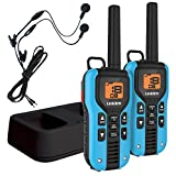 Uniden GMR4055-2CKHS Two Way Radio with Charger and Headsets, Blue