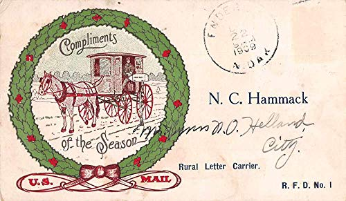 (Enderlin North Dakota US Mail Letter Carrier Carriage Non PC Back JD933400)