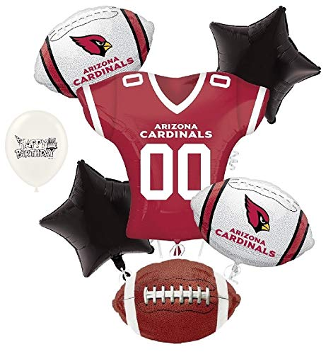 Arizona Cardinals NFL Football Party Balloon Bouquet Bundle