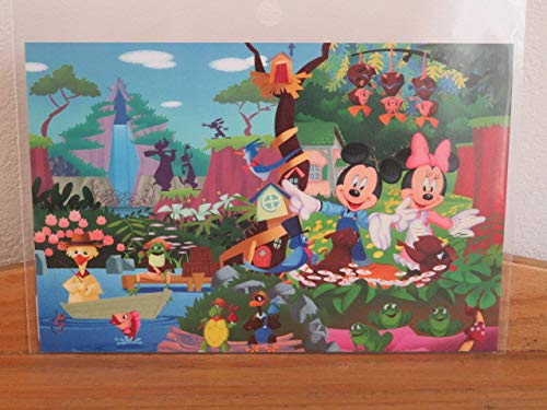 TDL 東京ディズニーランド スプラッシュマウンテン ミッキーとミニー かわいい ポストカード B07SK764QC