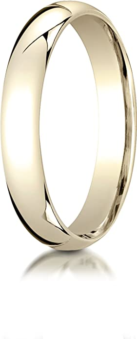 10k Yellow Gold 2mm Standard Flat Comfort Fit Wedding Ring Band Size 4-14 Full /& Half Sizes