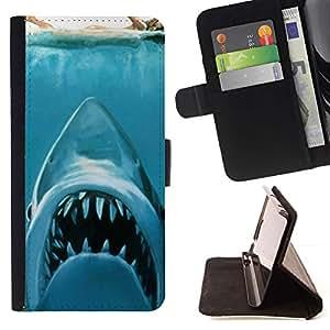 Momo Phone Case / Flip Funda de Cuero Case Cover - KILLER TIBURÓN BLANCO - Samsung Galaxy Note 5 5th N9200