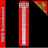 Sign Screen Scoreboard~Washers~Cornhole~Horseshoes~Bocce Ball~Bean Bag~RED 4x18