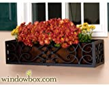 24 Inch Orleans Aluminum Window Box Cage with Bronze Tone Liner
