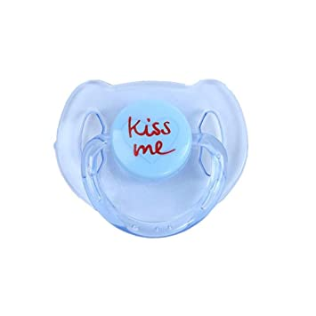 Magnet Pacifier for Reborn Newborn Baby Dolls Handmade Magnetic Nipple  Dummy Kiss Blue
