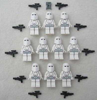 10 LEGO STAR WARS SNOWTROOPER MINIFIG LOT storm trooper figures clone snow toys(US Seller)