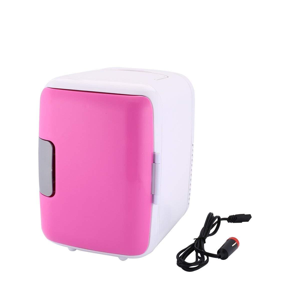 hydens Compact Size 4L Car Refrigerators Ultra Quiet Low Noise Car Mini Refrigerators Freezer Cooling Heating Box Fridge