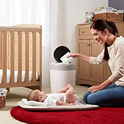 Tommee Tippee Simplee Diaper Pail Starter Set with 4 Refills, Grey