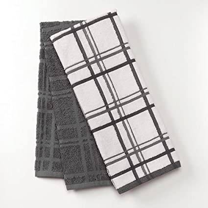 Charmant Antimicrobial Kitchen Towels (Dark Grey)