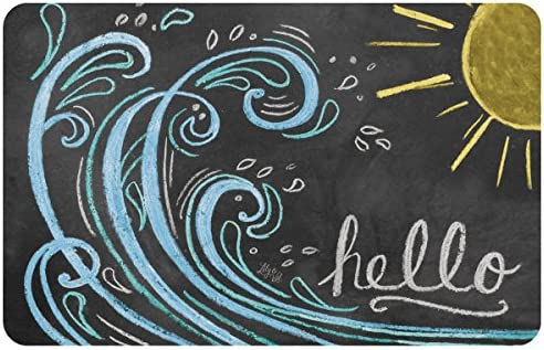 Novelty Wave Hello Color Mat by Lily Val, 23 x 36 , Multicolor