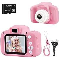 كاميرا بدقة 1080P من يونسي للاطفال، لتصوير الفيديو ومناسبة كهدية لعيد ميلاد الفتيات من سن 3-12 عام مع بطاقة SD بسعة 32…