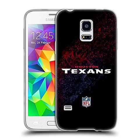 Official NFL Blur Houston Texans Logo Soft Gel Case for Samsung Galaxy S5 mini (Houston Texans Samsung S5 Case)