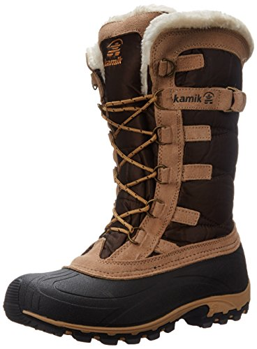 Kamik Women's Snowvalley Insulated Winter Boot, Dark Brown, 7 M (Dark Brown Waterproof Insulated Boot)