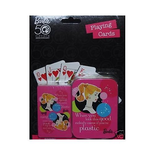 Barbie 50th Anniversary Playing Cards 733966046576