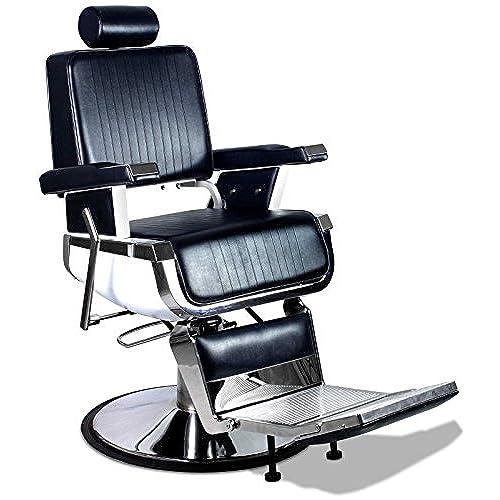 Truman Professional Vintage Reclining Hair Salon Hydraulic Barber Chair - Vintage Barber Chair: Amazon.com