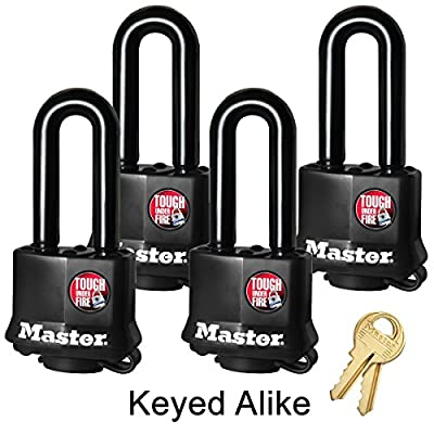 Master Lock Keyed Alike Padlock w/ Thermoplastic Coating - Model # 311KALH
