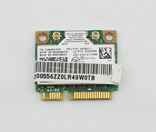 20200556 IBM Lenovo Thinkpad 7260 Wireless N Card 04X6011 Intel Lan