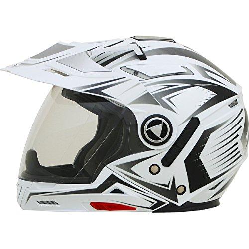 - AFX FX-55 Unisex-Adult Full-Face-Helmet-Style 7-In-1 Helmet (Multi White, Large)