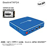 Beelink AP34 Mini PC Desktop 4K, 8GB/64GB, SSD Support, Intel Celeron N3450 HD ( 2M Cache, up to 2.2 GHz) Graphics 500, 1000Mbps LAN/ Dual-Band 2.4G+5.8G WiFi/ BT 4.0 [Support Windows 10]