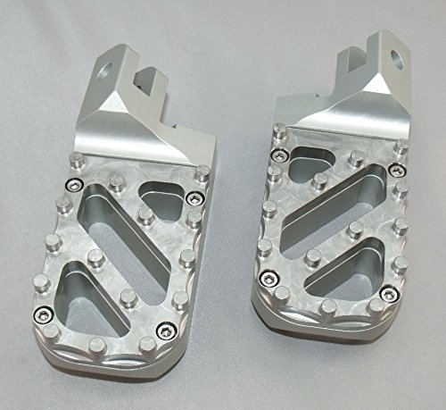 Hunter wide traction tread black anodized Knight Design 7//8 inch Lowered Wide Front Foot Peg Pair for KTM 690 Duke Supermoto SMC Enduro