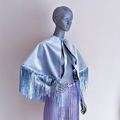 Festival cape Velvet cape Hooded cape wedding capelet EDC festival outfit festival fringe top rave outfit burning man wear performance wear by April Delouvre