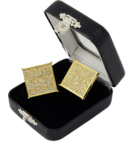 Plated Large Square Screen Earring product image