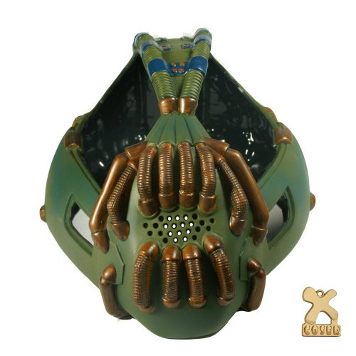 TDKR Bane Mask Replica Army Version for Halloween Mask Cosplay (Bane Mask Voice Changer)
