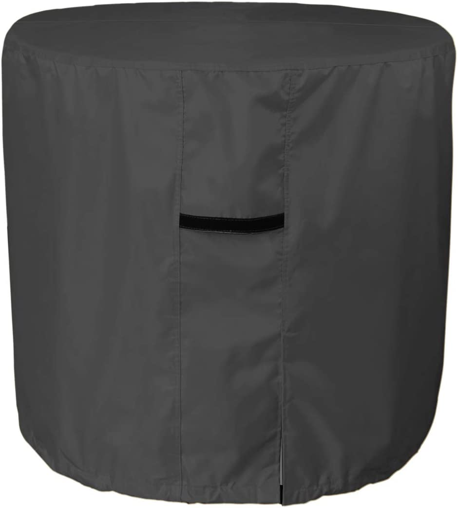 Porch Shield Waterproof 600D Heavy Duty Patio Round Air Conditioner Cover 34D inch, Black
