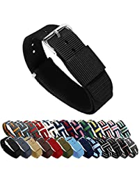 BARTON Watch Bands - Choice of Color, Length & Width (18mm, 20mm, 22mm or 24mm) - Black 24mm - 'Long' Version