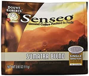 Senseo Coffee Pods, Sumatra Blend,, 3.92 Ounce,16 Count (Pack of 6)