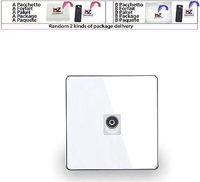 Antena coaxial de pared para televisor, de estilo moderno, de acrílico, color blanco y negro: Amazon.es: Bricolaje y herramientas