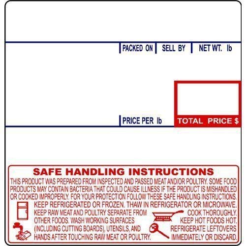 (CAS LST-8040 Printing Scale Label, 58 x 60 mm, UPC/Safe Handling - CASE of 12 Rolls by CAS )