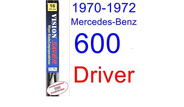 Amazon.com: 1970-1972 Mercedes-Benz 600 Wiper Blade (Driver) (Saver Automotive Products-Vision Saver) (1971): Automotive