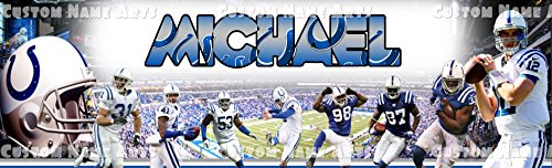 Picture Nfl Personalized (Personalized Indianapolis Colts NFL Banner Birthday Poster Custom Name Painting Wall Art Decor)