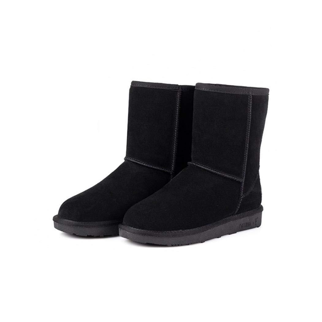 Fanala Women Solid Color Keep Warm Flat Heel Shor Snow Boots