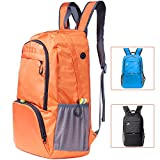 Cobiz Ultralight Travel Backpack, 30L Water Resistant Roomy Foldable Latop Hiking Camping Daypack for Women Kids -Built in Safety Pocket and Headphone Jack (Orange) Review