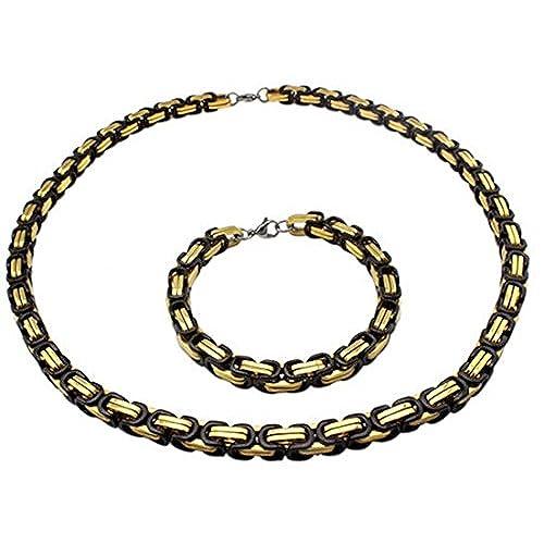 c85d2cbfefb8 30% de descuento Gudeke titanio Collar de acero pulsera de acero inoxidable  8 mm Hombre