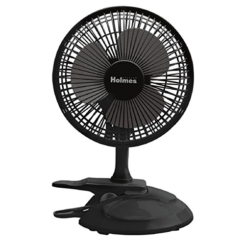 Holmes Convertible Desk & Clip Fan, Black ()