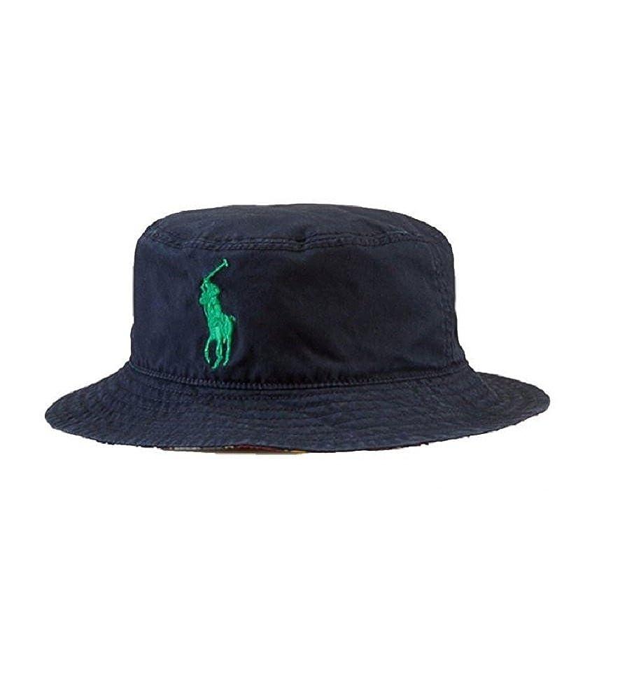92ce2e4e858 Polo Ralph Lauren Boy`s Reversible Madras Twill Bucket Hat (4-7  Amazon.in   Clothing   Accessories