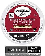 Twinings of London Decaf English Breakfast Tea K-Cups for Keurig, 24 Count (Pack of 4)