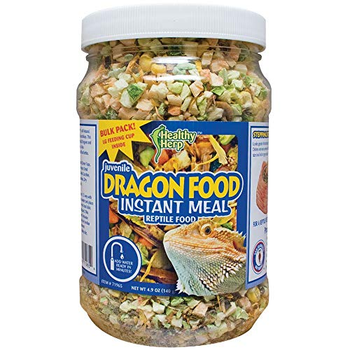 Healthy Herp Juvenile Dragon Food Instant Meal 3.9-Ounce (110 Grams) Jar