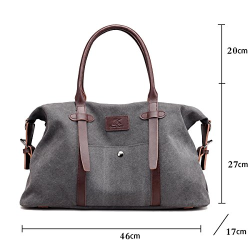 Handbags Shoulder with Bag Boston Women's Shoulder Bags Casual Strap SDINAZ Large Gray Brown Lightweight 1Rx8Fw