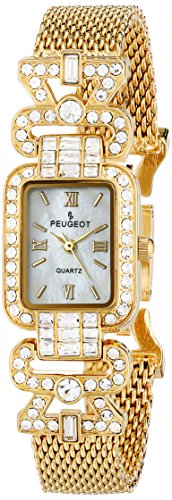 Peugeot Bezel Watch (Peugeot Women's 7070G  Crystal Bezel Gold-Tone Mesh Bracelet Watch)