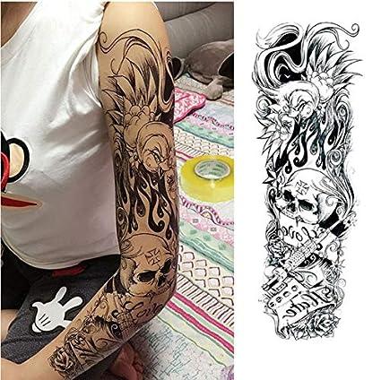 yyyDL Etiqueta engomada del tatuajeZorro y conejo Flor completa ...