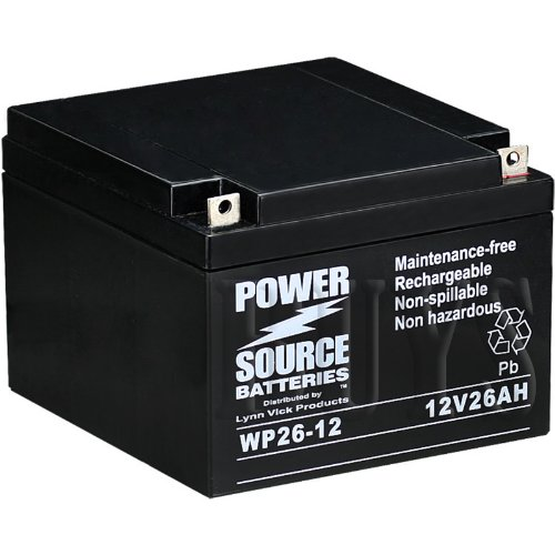 - WP26-12 Sealed AGM 12v 26 ah Battery replaces NP24-12, NP24-12B, 12CE26, CF-12V26, ELK-12260, 6FM24, 6-FM-24, 6-FM-26, CB24-12, ES26-12, BAT-12260, WP24-12, WP24-12N, WP26-12B, WP26-12N, WP26-12NB, ES26-12, ES26-12SA, PRB1226, RT12260, BAT-1226, UT-12240, IM-12240