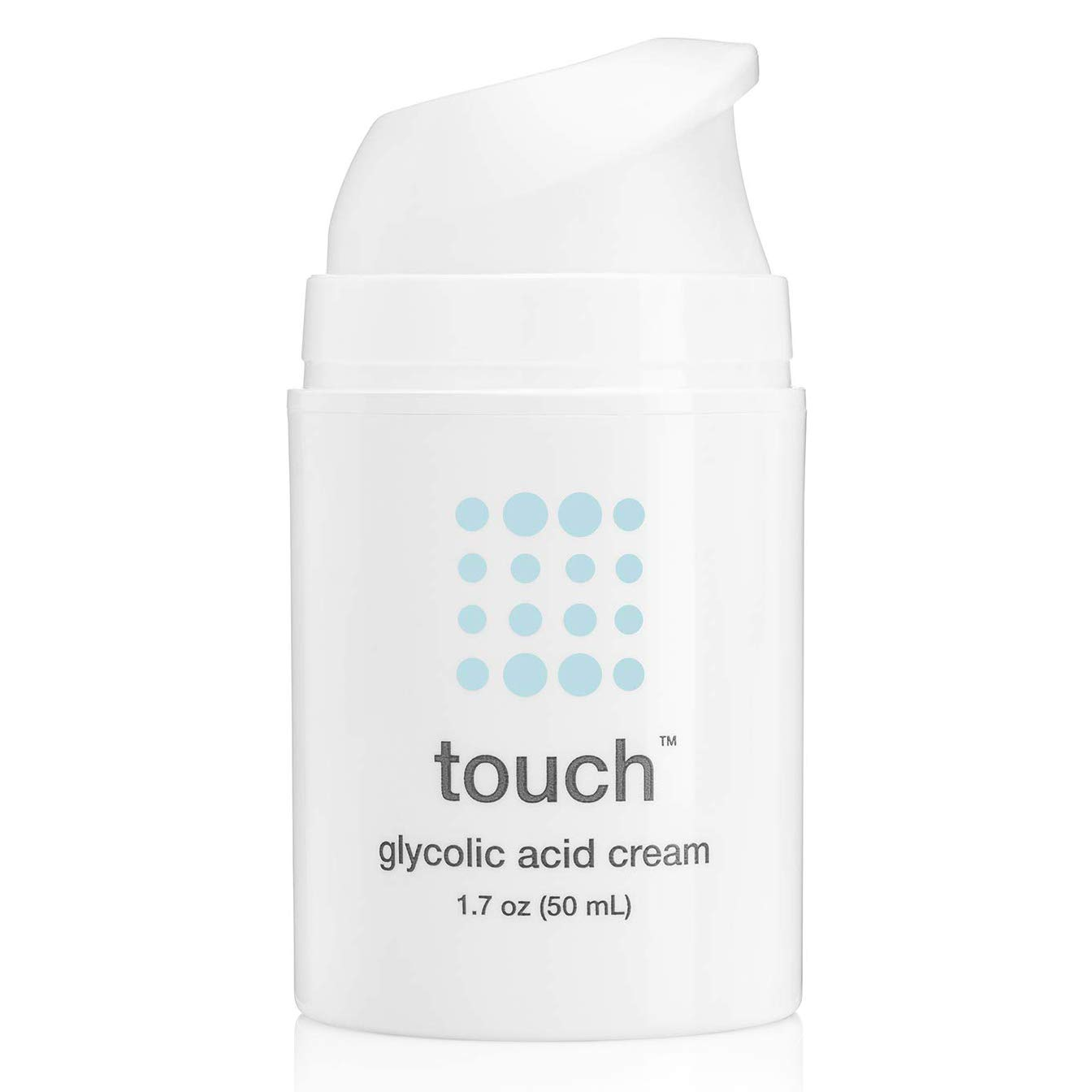 10% Glycolic Acid Anti Aging Wrinkle Face & Neck Cream - Oil-Free Moisturizer with Hyaluronic Acid & Squalane - Lightweight & Fast Absorption, Great Under Makeup - Day or Night Cream, 50 ml